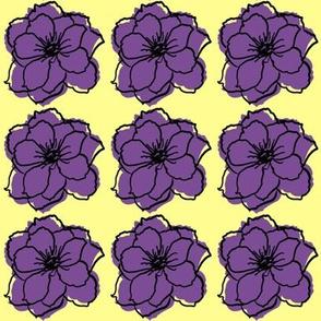 off register purple flowers