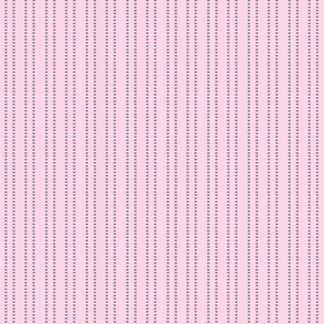 Pink mini dash stripe