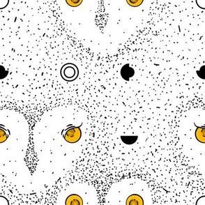 Owl Dot Pattern Large