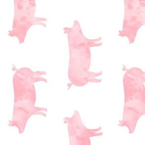 (large scale) just pigs - watercolor pink (90) C19BS