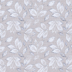 Leaves Soft Grey