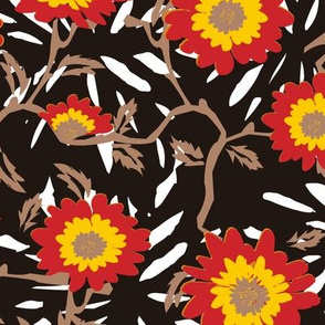 Funky Flowers (Black)