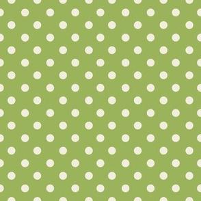 BaB - Green and Cream Dots