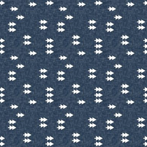 (small scale) trees on navy linen (90)  C19BS