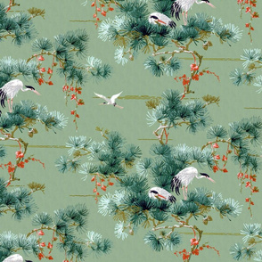 Chinoiserie Cranes ~ Original