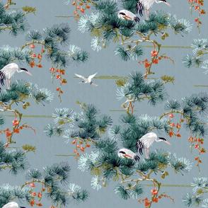 Chinoiserie Cranes ~ Blue