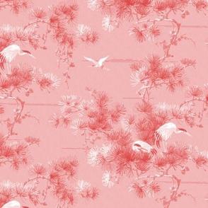 Chinoiserie Cranes ~ Blush
