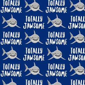 totally jawsome - sharks!- blue - LAD19
