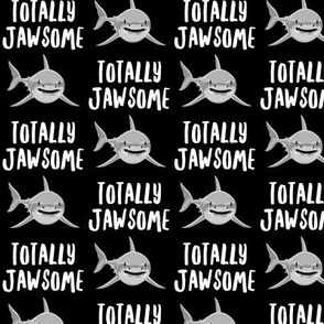 totally jawsome - sharks!- black - LAD19