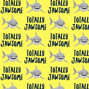 totally jawsome - sharks!- yellow - LAD19