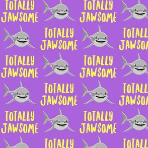 totally jawsome - sharks!- purple - LAD19