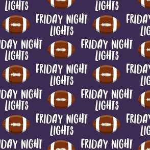 Friday Night Lights Football - Purple - LAD19