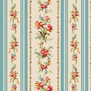 Belvedere Floral Stripe ~ Original