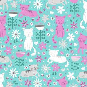 Garden Cats (Mint)