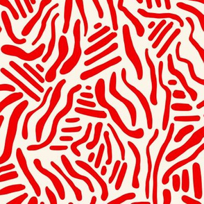 Abstract Lines - Red