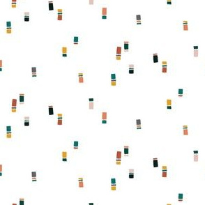 Tiny blocks of muted color