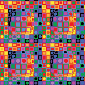 Homage To Vasarely-Color Blocking