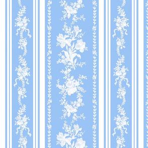Belvedere Floral Stripe ~ Jasper Ware and Blue and White