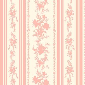 Belvedere Floral Stripe ~ Cosmic Latte and Pierina