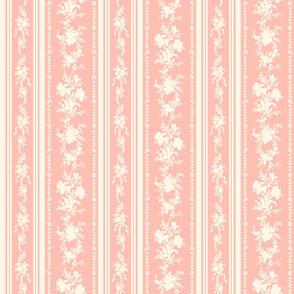 Belvedere Floral Stripe ~ Pierina and Cosmic Latte