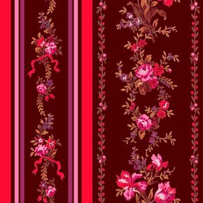 Belvedere Floral Stripe ~ Berries on Hampton Court