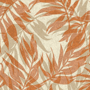 Hawaiian Tropical Vintage Palms- Neutrals
