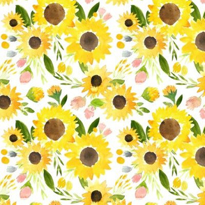 Sweet Summer Sunflowers Watercolor Florals