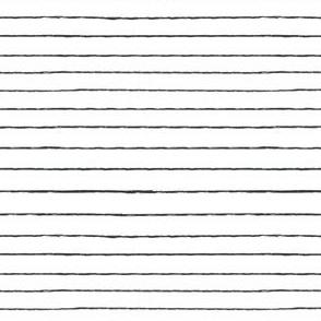 black white brushed stripes - thin