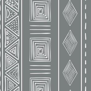 Steel Gray Ethnic Tribal Pattern