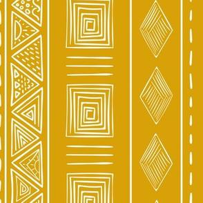 Mustard Yellow Ethnic Tribal Pattern