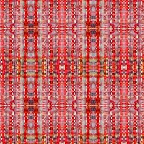 vivid red plaid