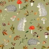 Hedgehogs and Fall Foliage // Green Smoke