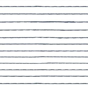 navy and white stripes - grunge brushed