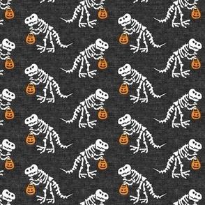 "(1.75"" scale) Trick or Treating Skeleton Trex - grey - halloween - LAD19BS"