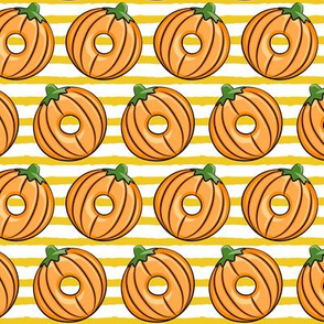 Pumpkin donuts - gold stripes - fall doughnuts - halloween - LAD19