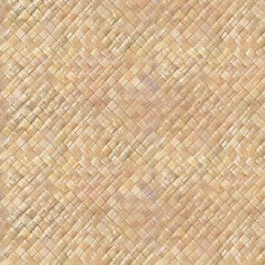 Hawaiian Lauhala weave-light tan