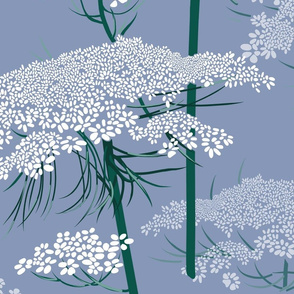 Large   Queen Annes Lace   Blue Gray