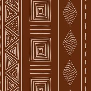 Brown Ethnic Tribal Pattern