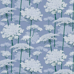 Small   Queen Annes Lace   Blue Gray
