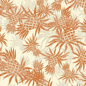 Hawaiian Pineapple Camo - Large Size- Rust