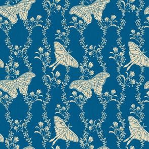 Blue Art Nouveau Butterflies