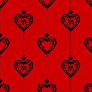 Queen of Hearts Red