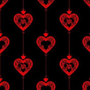 Queen of hearts black