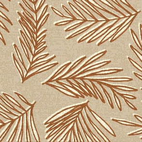 Tropical Spa Coordinates- Palm Leaves Bark Cloth