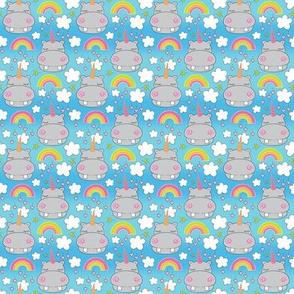 tiny unicorn hippos