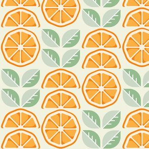 Orange slices with mint