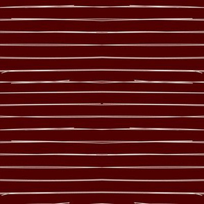 Bone Stripes on Burgundy #500000