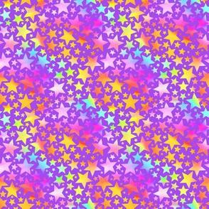 Bright stars - purple background