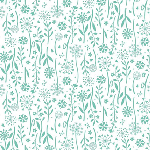 Wildflower (Spearmint on White)