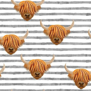 Highland cattle - highlander cow - stripes - LAD19